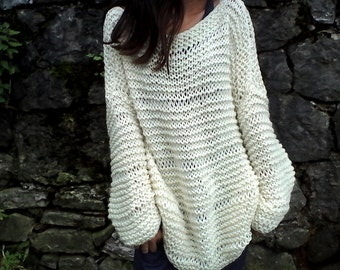 Knitted sweater Etsy
