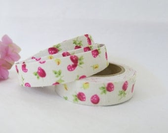 Floral Fabric Tape / Adhesive Decoration Fabric Tape  FT039