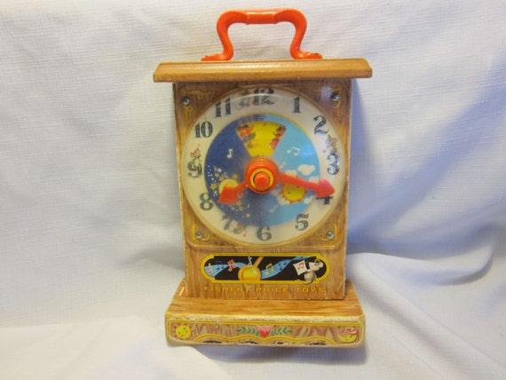 Vintage Fisher Price Music Box Tick Tock Clock No 997