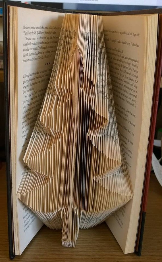 Book Folding Pattern Christmas Tree 173 Folds by CraftyHana