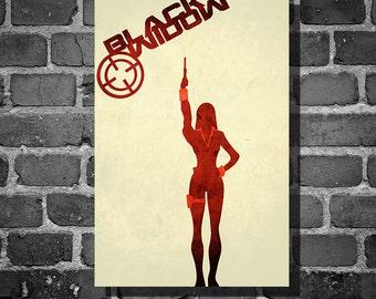 The Avengers movie poster minimalist poster comic book print comic book art Black Widow