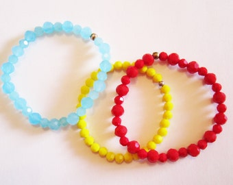 Stretchy Beaded bracelet - Glass beads