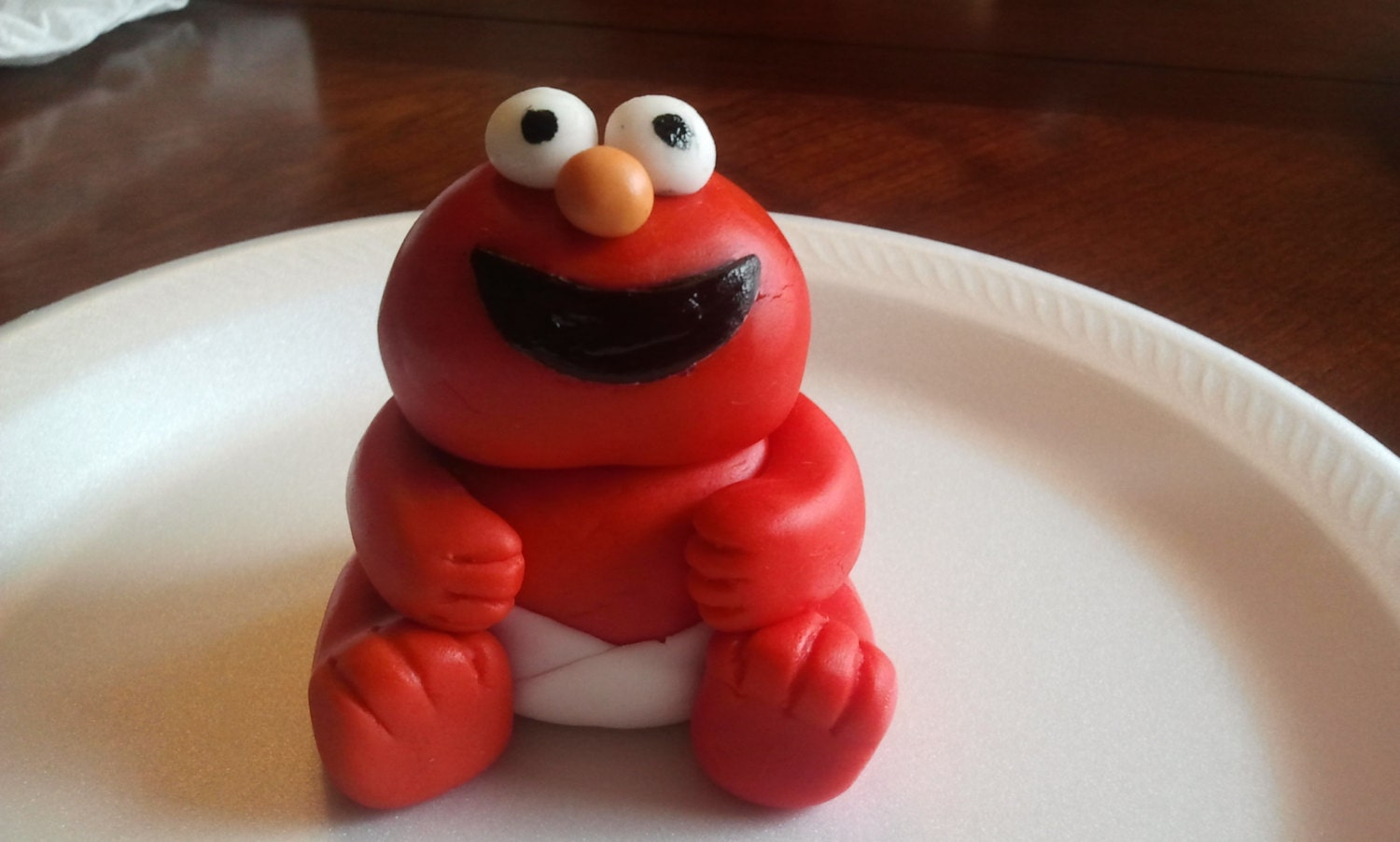 how to make elmo out of fondant