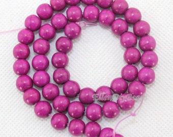 6mm & 8mm Purple Round Turquoise Beads,Purple Turquoise Beads,One Full Strand,Turquoise Beads,Gemstone Beads--BT038