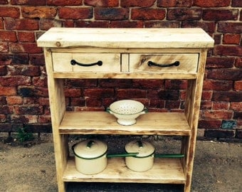 Reclaimed Solid Wood Freestanding Shelving Unit