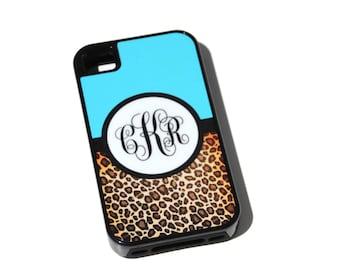 Cheetah Phone Case, iPhone Case, Samsung Galaxy Case, Hot Pink Phone Case, Monogrammed Phone Case