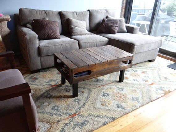 The Sullivan Hinged Pallet Coffee Table