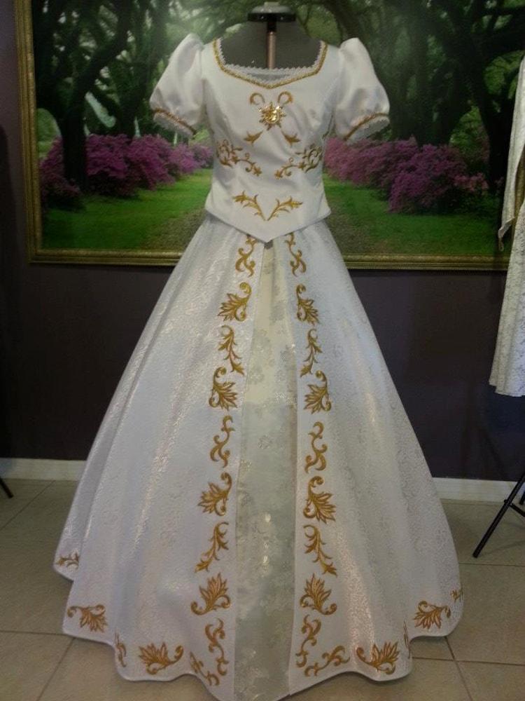 Rapunzel Wedding Dress By Prestigecouture On Etsy
