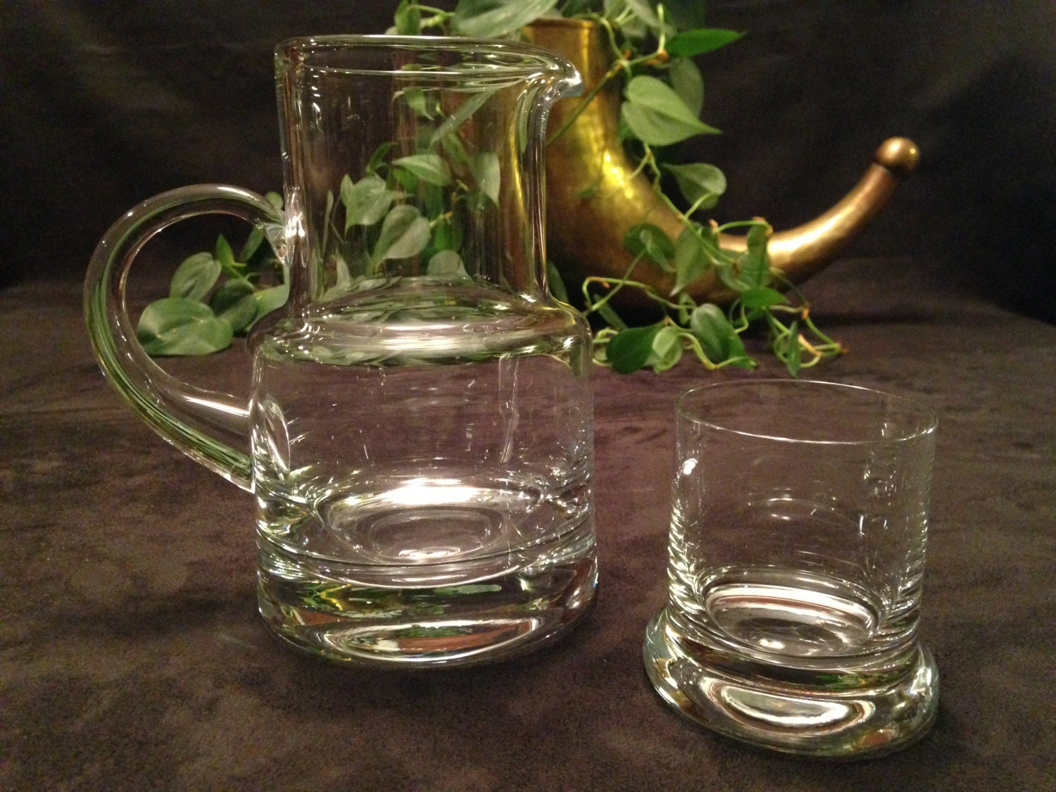 Vintage Tiffany Co Bedside Decanter Pitcher And Glass