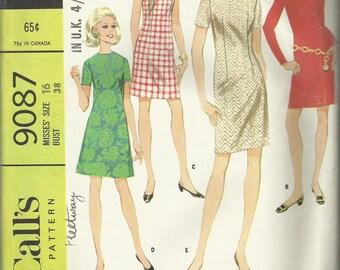 Vintage Sewing Pattern. McCalls 9087 dress pattern.