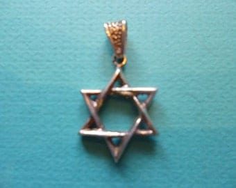 Star of David Pendant Sterling Silver Necklace 925 Charm