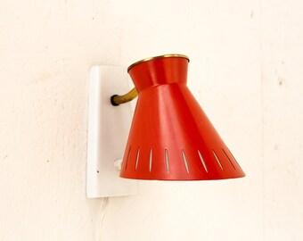 Vintage Hala wall lamp, Dutch design, fifties, retro