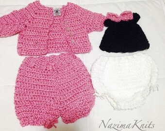 Hand-Crochet New Born Outfit