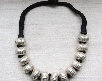 Ethnic Silver Bead Necklace - Banjara, India