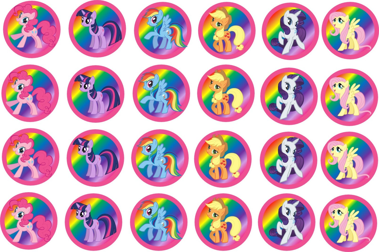 My Little Pony 1.5inch or 2inch cupcake toppers by LeilaBugs