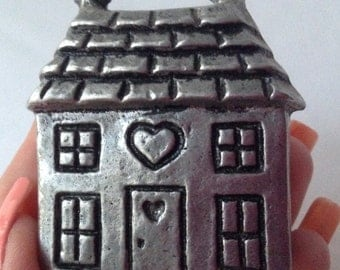 Little Aluminum Two Story House Mini Candle Holder