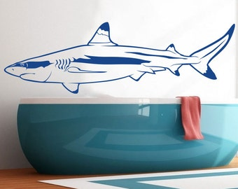 Great White Shark Sea Ocean Wall Decal Viny Decor Sticker Wall Art Mural Shark  Wall Decals Part 87