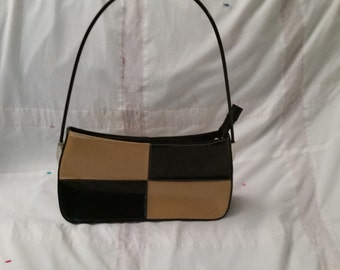 Brown and black two toned purse
