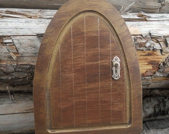 Wooden handpainted magical fairy elf door for Wooden fairy doors