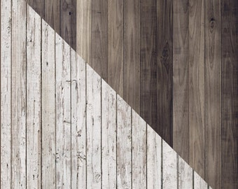 reversible vinyl distressed white and grey wood floor backdrop faux 3ft x 4ft photo prop - Distressed White Wood Flooring