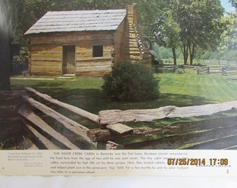 Vintage Collection of 14 Scenes Of Abraham Lincolns' Country