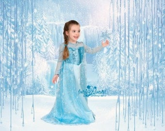 Frozen Elsa ice queen girls costume dress