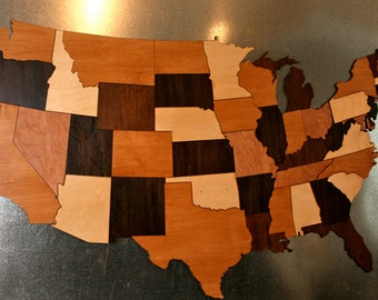 ArtsCentric Travel Curated By ART INSPIRATION Ovation TV On Etsy - Us map puzzle wood