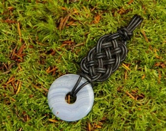 Pendant with leather knot No. 2 (without stone)