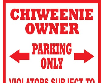 Custom Shorkie No Parking Sign Multiple Sizes By Doggonesigns