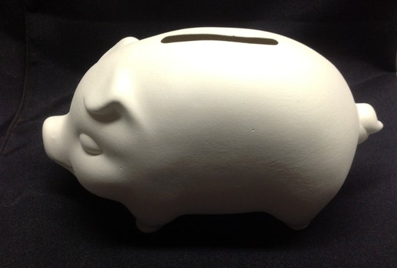 Ceramic bisque pig bank ready to paint for How to paint a ceramic piggy bank
