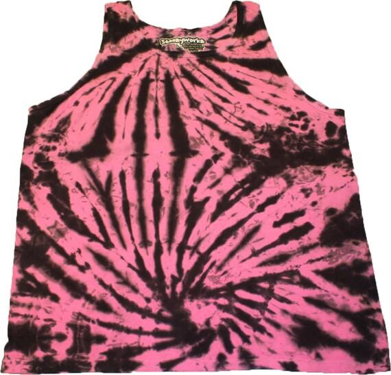 Etsy shop SteezyWorkz pink black tie die