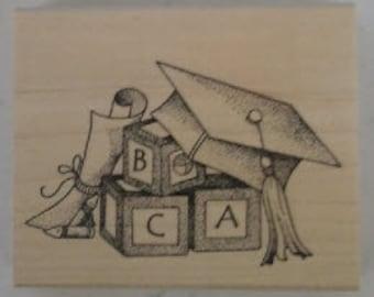 ABC Graduation Rubber Stamp - 117M02