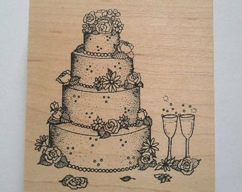 Wedding Cake Rubber Stamp - 121M03