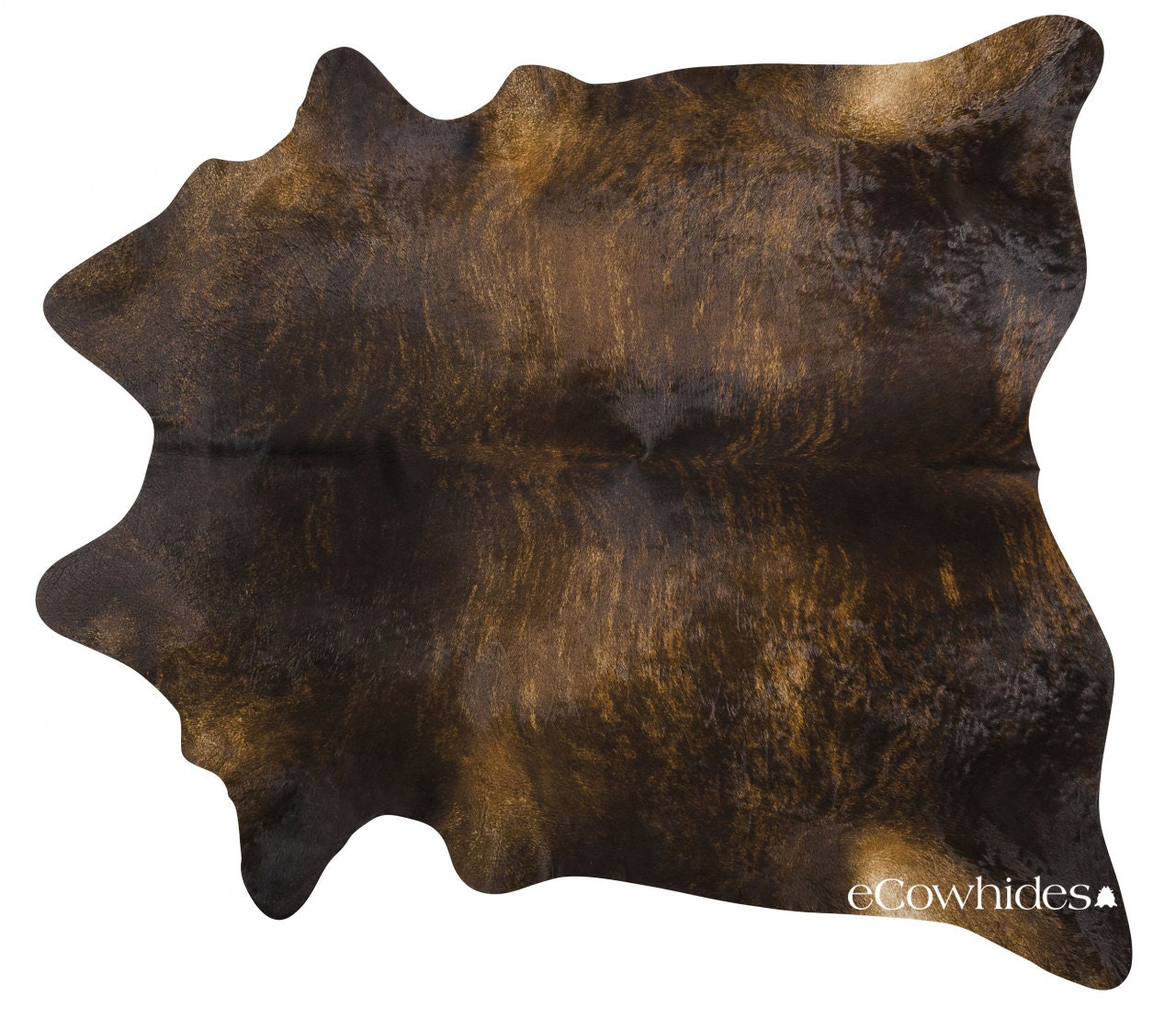 Dark Brindle Brazilian Cowhide Rug Cow Hide Rugs Xl