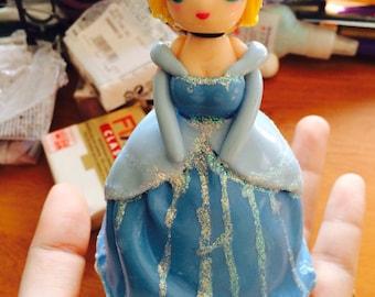 Desk room fimo disney Cinderella doll figurine
