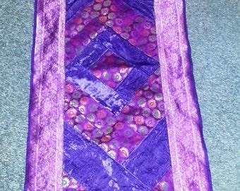 Indian hand made Runner, table cover, zari table cover velvet table cover FREE SHIPPING