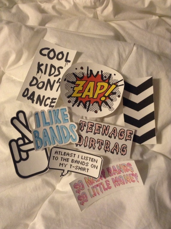 One Direction Tumblr Sticker Bundle by IdiotApparel on Etsy