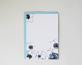 Single Anemone Card