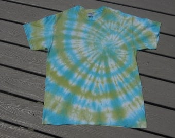 loco lime - blue & lime green tie dye shirt {festival wear, beach, surf, hippie, boho}