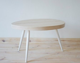 table coffee table unique oval scandinavian style series