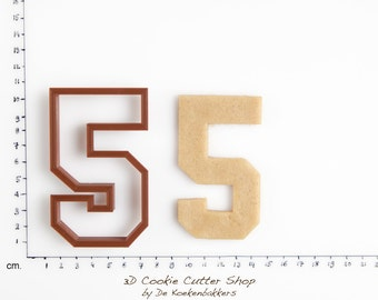 Sports Number Five Cookie Cutter