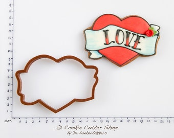 Tattoo Heart Cookie Cutter