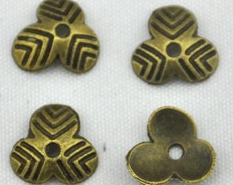 Wholesale 10mm Bronze Bead Caps ---80pcs Antique Bronze Flower End Caps Charms ,DIY Accessory Jewelry Making ---G816