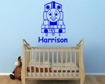 Thomas The Tank Engine vinyl wall art sticker quote childs room, 16 colours & 4 sizes - thomas1