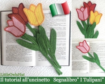 """044IT Il tutorial all'uncinetto Segnalibro"""" I Tulipanii"""". Amigurumi Giocattolo - PDF Di Zabelina Etsy"""