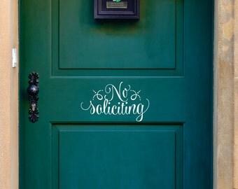 No Soliciting Door Sign - Vinyl