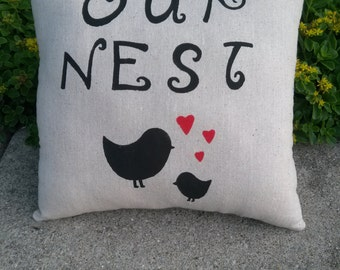 Our Nest Decorative Pillow - Accent Pillow