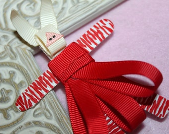 Olivia Pig Ribbon Sculpture Hair Clip