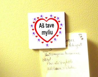 Lithuanian I love you Magnet
