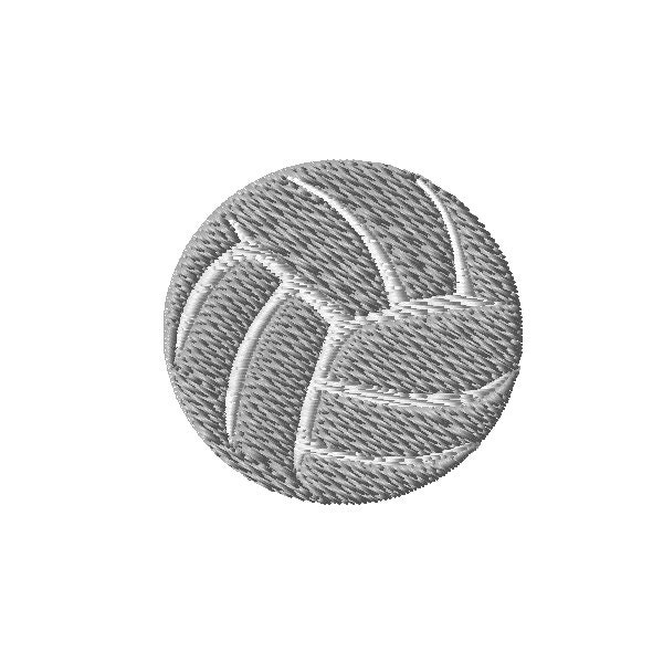 Volleyball machine embroidery design sizes